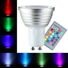 3W GU10 RGB-LED-Lampe 16 Farbwechsel Glühbirne W / Fernbedienung mit 24 Tasten