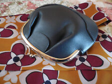 L. L. Bean Navy Blue Leather Large Change Coin Purse with Credit Card Slots