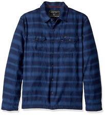 True Grit Men's Double Cloth Tribal Shirt Jacket with Pockets Indigo Blue XL New
