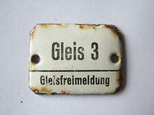 Deutsche Bundesbahn, Emailleschild, Streckenblockbeschriftung mech. Stellwerk