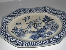 "Nice Meakin J. & G. Royal Staffordshire BLUE WILLOW 12 1/4""  x 9 3/4""  PLATTER"
