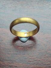 Ancient Medieval Bronze Ring Uk Size V/W