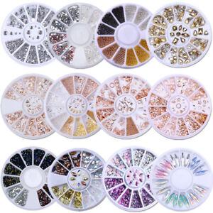 3D Bijoux Ongle Déco Glitter Strass Cristal  Tips Nail Art Décoration