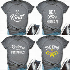 Bee A Nice Human T-Shirts Bee Kind Kindness Tees Women Men Short Sleeve Tee Tops