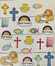 Religious Inspirational Words Faith Bible  Stickers Papercraft Planner VBS Cross