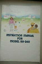 Instructions Knitting machine BROTHER  KH-260 CD/Email