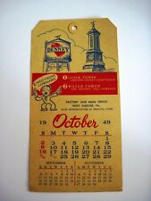 """1949 Advertising Calendar """"Denny Tag Co."""" Made on A Tag  *"""