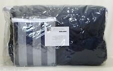 POTTERY BARN TEEN Brooklyn Stripe TWIN XL Bedding Comforter Ensemble, NAVY, NEW