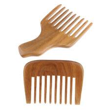 2x Peigne Afro Coiffure Bricolage Larges Dents Cheveux Frisés Soins