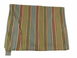 Pottery Barn Spring 18x108 inch Cotton Green Striped Table Runner 12/2011