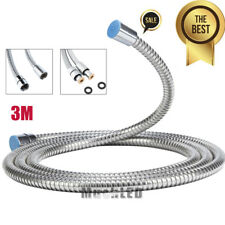 10Ft Shower Hose Stainless Steel Bathroom Heater Water Head Pipe Chrome Flexible