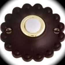 Atlas Rustico Doorbell button Door hardware Aged Bronze Round Decorative