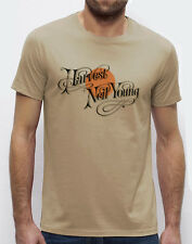 "NEIL YOUNG ""Harvest"" T-Shirt beige S-M-L-XL-2XL-3XL"