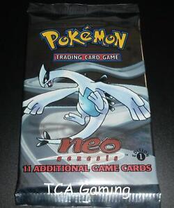 Sealed Neo Genesis 1ST EDITION Booster Pack LIGHT Lugia Art Pokemon Cards (CS2)