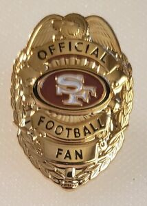 SAN FRANCISCO 49ers OFFICIAL FOOTBALL FAN BADGE PIN