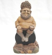 Tom Clark Gnome Figurine Stanley on Hockey Puck Maple Leaf Canadian Penny 1995