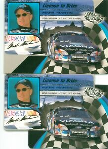 MARK MARTIN + 5) 2002 PP Trackside License To Drive Base & Die Cut