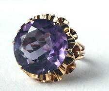 Ring Purple Blue Color Change Ring Huge Vintage 14k Rose Gold Egypt Alexandrite