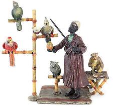 Bronce de Viena-papageienzüchter-animal personaje araberbronze orientale handbebemalt