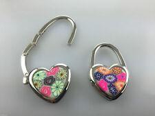 Wholesale Job Lot 12 x Heart Shaped Ladies Handbag Bag Hangers Mixed Colours NEW