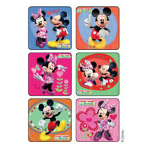 25 Mickey Minnie Mouse Glitter Stickers Party Favors Birthday Loot Treat Bags