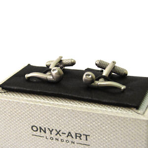 Super Tobacco Pipe Cufflinks Cuff Links Smoking by Onyx Art New Boxed