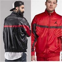 Nike Air Jordan 5 AJ5 Satin Full Zip Black & Red Jacket AR3130 Men's LARGE NWT