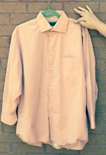 NWOT BARBERINI Salmon Pink 100% Cotton Button Down SZ 41/16 Made in Italy
