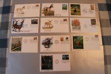 Deer, Antelope, Moose & Reindeer FDC Lot with 10 FDC's