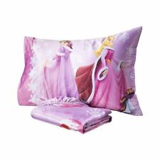 New Disney Princess Winter Holiday Beauties Micro Mink Twin Sheet Pillowcase Set