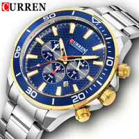 CURREN Men Watch Top Brand Luxury Steel Male Wristwatch Business Quartz Watches