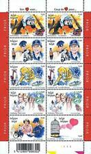 👉 BELGIUM 2003 PUBLIC SERVICES M/S MNH FIREFIGHTERS, POLICE, NURSES MEDICINE