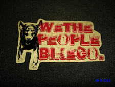 1 AUTHENTIC WETHEPEOPLE WTP BMX BIKE CO. FRAME STICKER / DECAL #8 AUFKLEBER