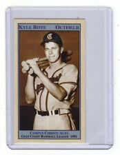 Kyle Rote Corpus Christi minor league later a pro football star & broadcaster