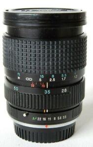 TOKINA RMC F3.5 28-70mm Lens - with Macro - PENTAX PKA Bayonet Fit - 62mm Filter