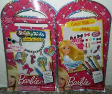 Lot of 2 BARBIE Shrinky Dinks Charm Bracelet COLOR STICK ACTIVITY Package NEW