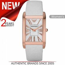 Emporio Armani Classic Ladies Watch│mother of Pearl Dial│leather Strap│ar2047