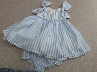 Laura Ashley Cotton Two Piece  Dress+pants -  1yrs (12m)