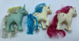 My Little Pony Lot G1  3 ponies Group H Unicorn