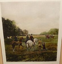 """HEYWOOD HARDY """"GOING TO THE MEET"""" HAND COLORED ENGRAVING"""