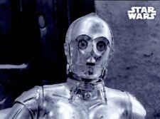 Star Wars ROTJ / Return of The Jedi, Black & White Metal 1/1 Card, M-5 C-3PO