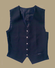Dark Blue Argyll Kilt Jacket Waistcoat by Scottish Kilt | Made To Measure