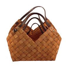 Gift Basket Wood XXL Basket with Handle Fruit Basket Wicker Basket
