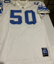 Chris Claiborne Auto Game-Used 2001 Detroit Lions Road Jersey W/MEARS Letter