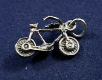Bicycle 3d Movable - Vintage Charm - 925 Sterling Silver