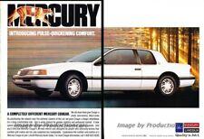 1989 Mercury Cougar 2-page Original Advertisement Print Art Car Ad J864