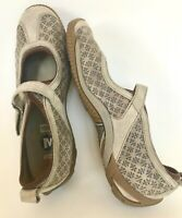 Merrell OrhtoLite Circuit Flats Suede Textured Pattern Adj Strap women 8.5 Taupe