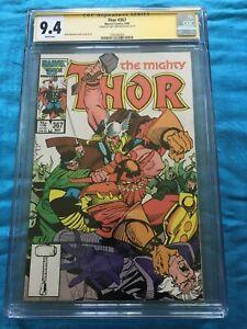 Thor #367 - Marvel - CGC SS 9.4 NM Signed by Walt Simonson