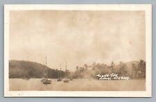 "St. Croix RPPC ""Along the Shore"" US Virgin Islands—Antique Photo—Boats AZO 1910"