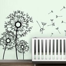 Dandelion Flower Wall Sticker Inspired Removable Nursery Room Vinyl Decor Large